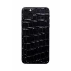 Защитная наклейка из натуральной кожи для iPhone 11 Pro Max, Вид Черный 1