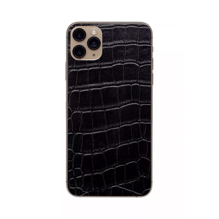 Защитная наклейка из натуральной кожи для iPhone 11 Pro Max, Вид Черный 1. Вид 3