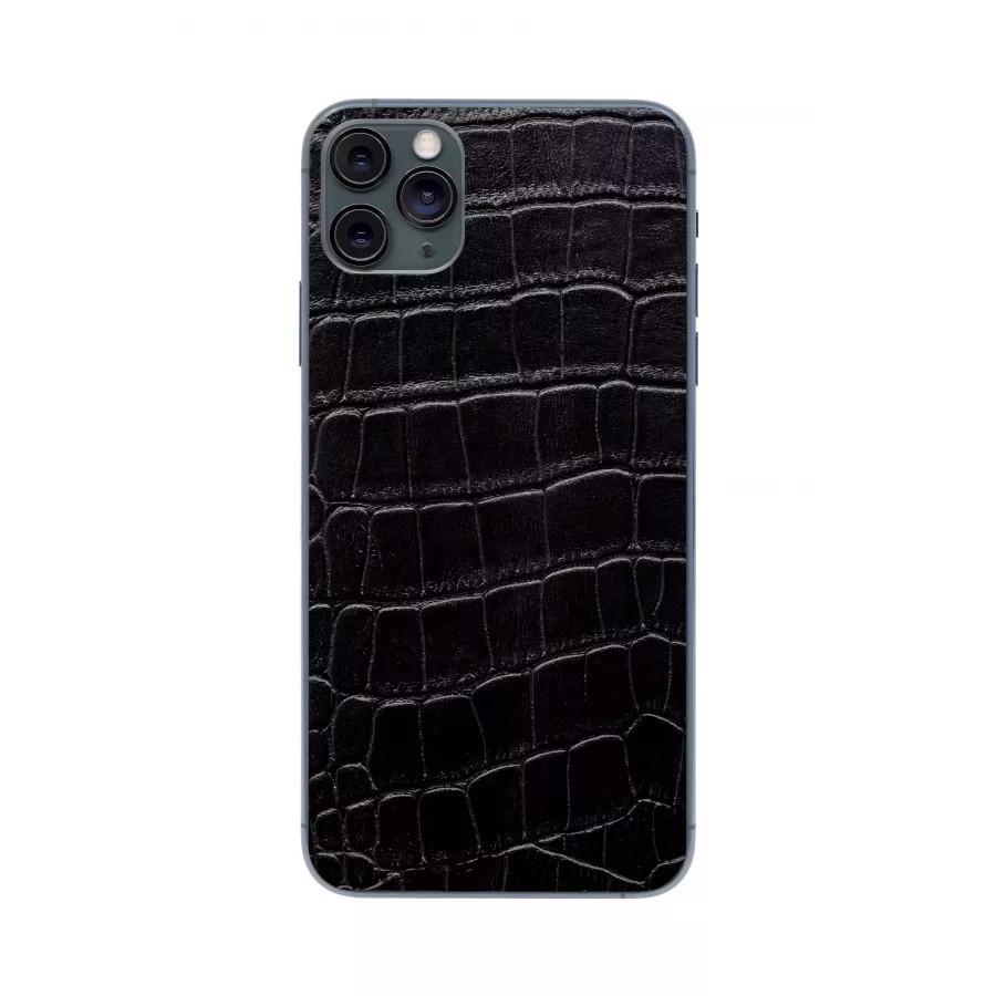 Защитная наклейка из натуральной кожи для iPhone 11 Pro Max, Вид Черный 1. Вид 2