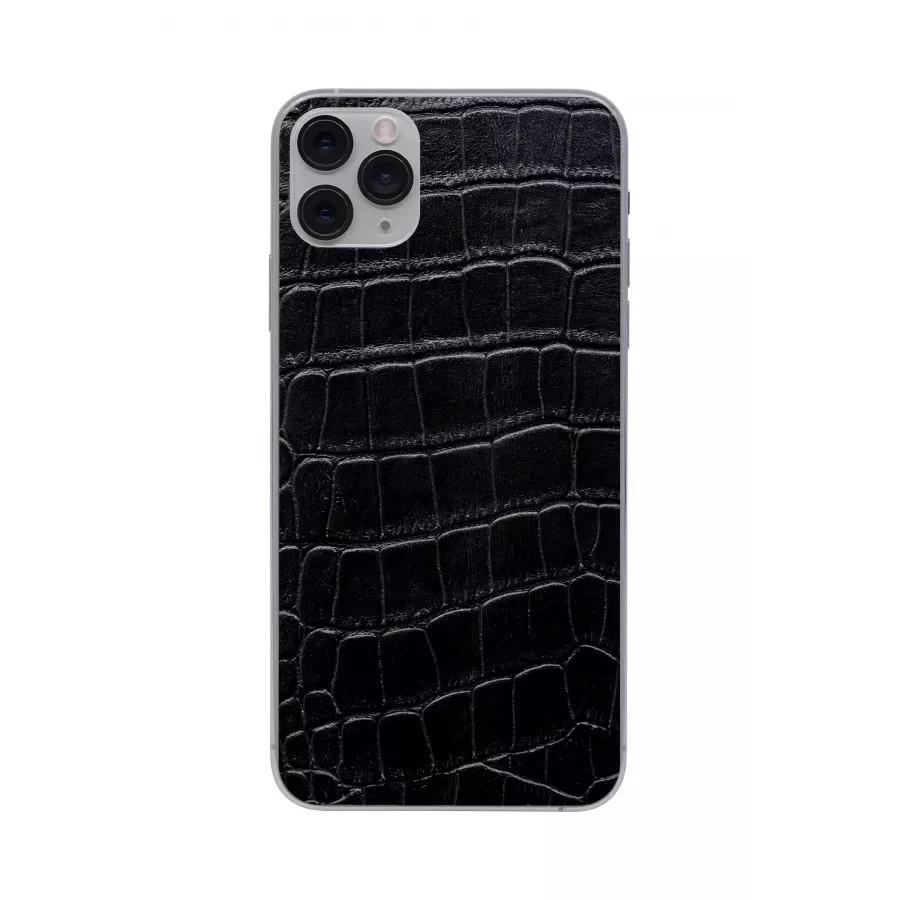 Защитная наклейка из натуральной кожи для iPhone 11 Pro Max, Вид Черный 1. Вид 4