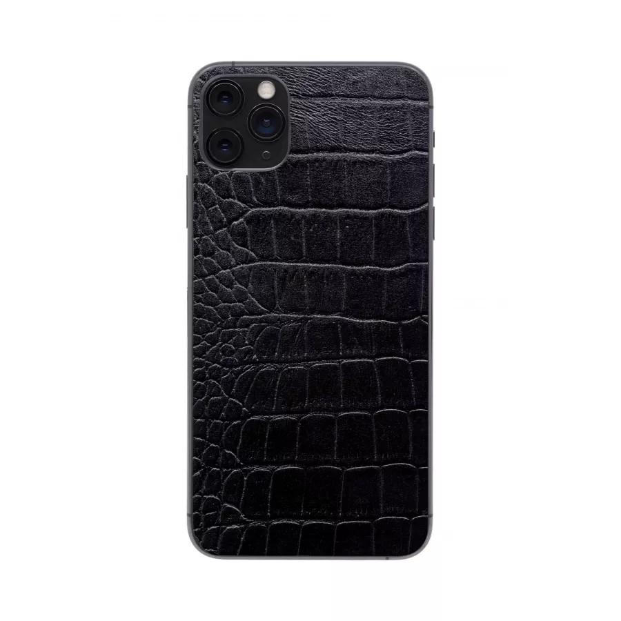Защитная наклейка из натуральной кожи для iPhone 11 Pro Max, Вид Черный 2. Вид 2