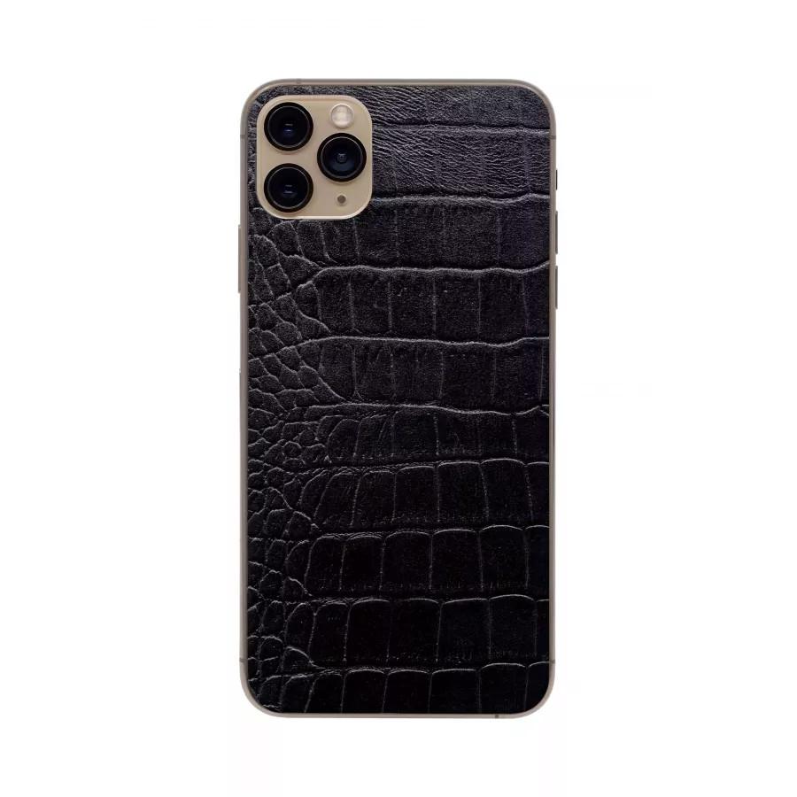 Защитная наклейка из натуральной кожи для iPhone 11 Pro Max, Вид Черный 2. Вид 3