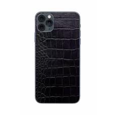 Защитная наклейка из натуральной кожи для iPhone 11 Pro Max, Вид Черный 2