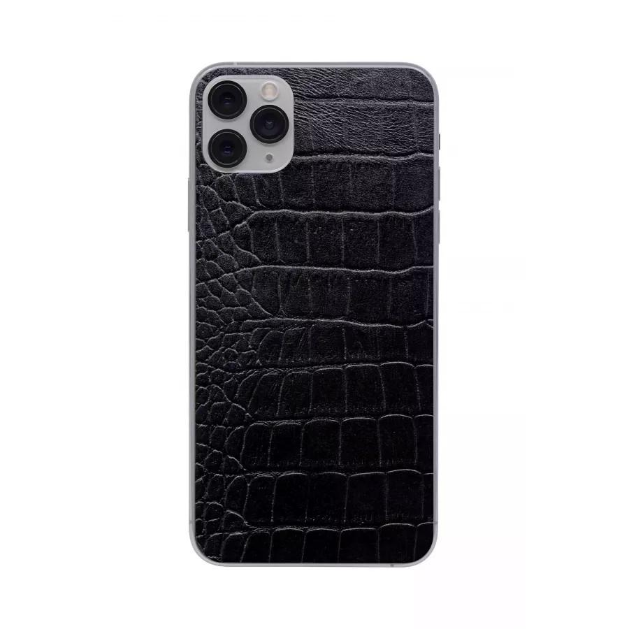 Защитная наклейка из натуральной кожи для iPhone 11 Pro Max, Вид Черный 2. Вид 4