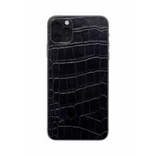 Защитная наклейка из натуральной кожи для iPhone 11 Pro Max, Вид Черный 3