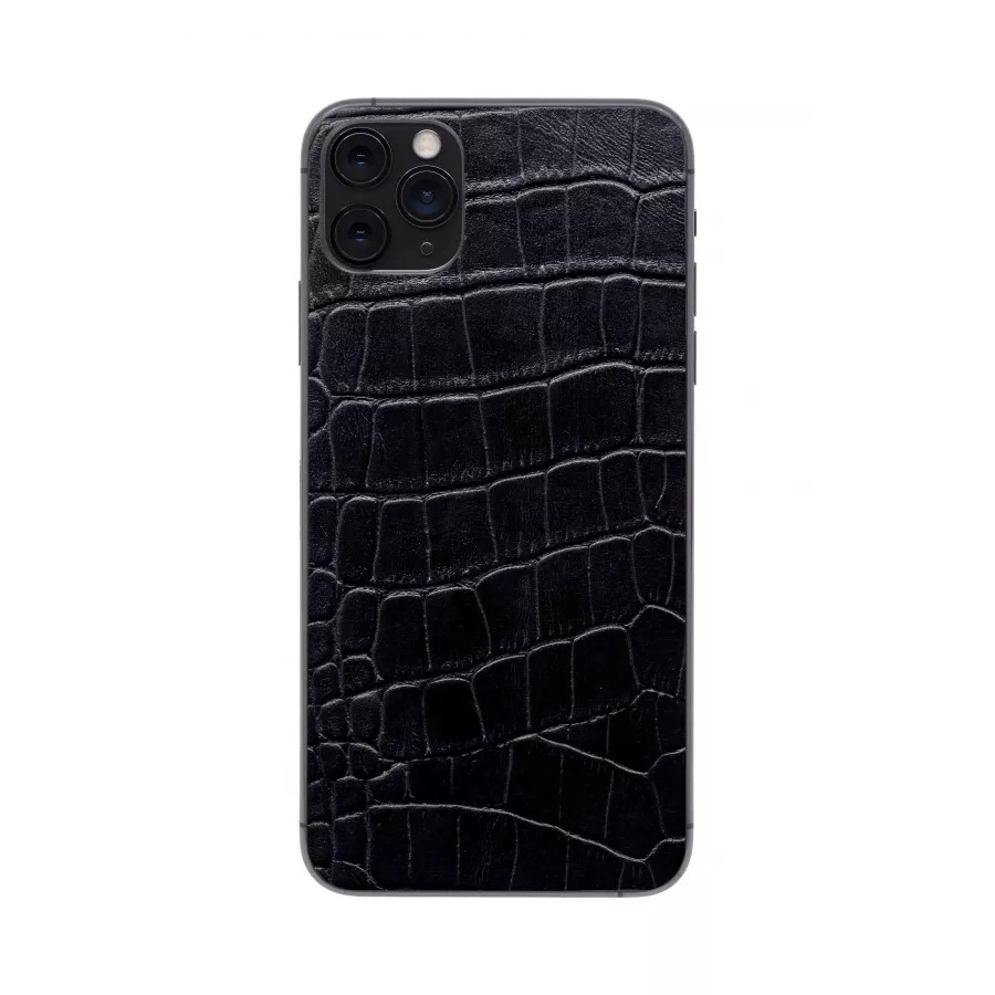 Защитная наклейка из натуральной кожи для iPhone 11 Pro Max, Вид Черный 3. Вид 1