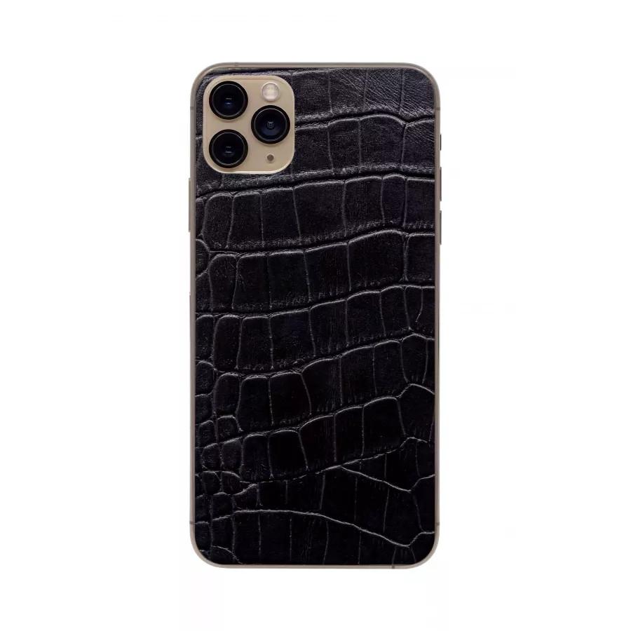 Защитная наклейка из натуральной кожи для iPhone 11 Pro Max, Вид Черный 3. Вид 4