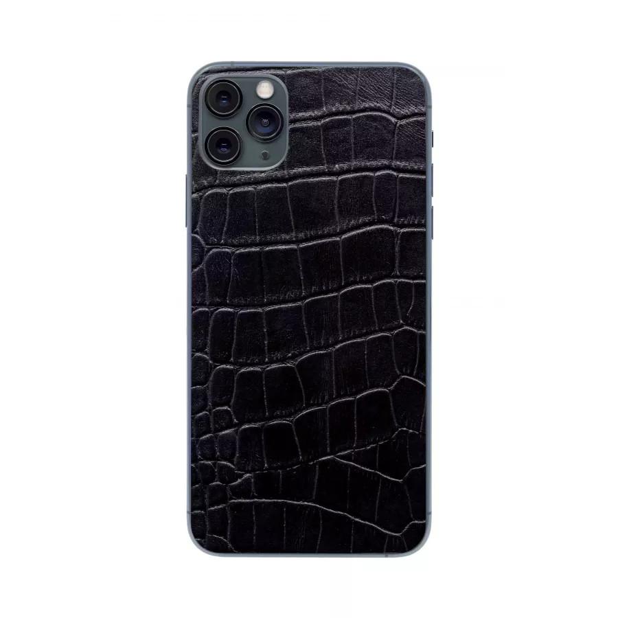 Защитная наклейка из натуральной кожи для iPhone 11 Pro Max, Вид Черный 3. Вид 2