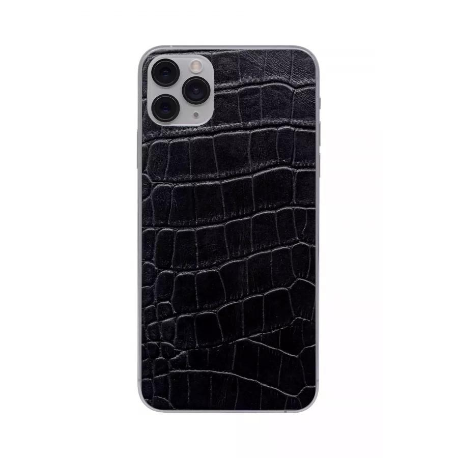 Защитная наклейка из натуральной кожи для iPhone 11 Pro Max, Вид Черный 3. Вид 3