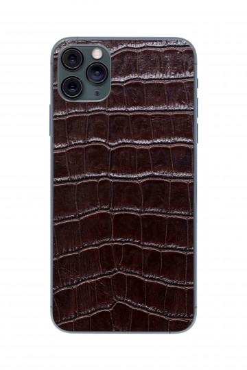 Защитная наклейка из натуральной кожи для iPhone 11 Pro Max, Вид Коричневый 1. Вид 1