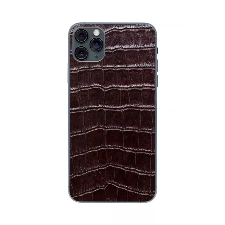 Защитная наклейка из натуральной кожи для iPhone 11 Pro Max, Вид Коричневый 2. Вид 2