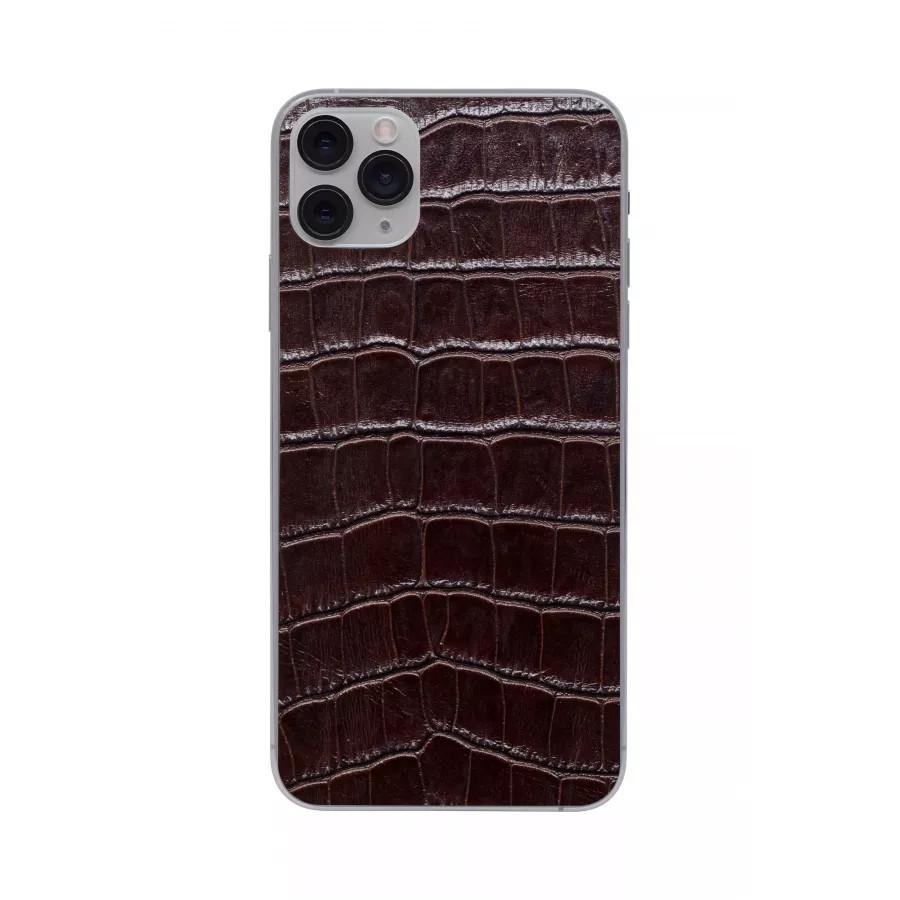Защитная наклейка из натуральной кожи для iPhone 11 Pro Max, Вид Коричневый 2. Вид 4