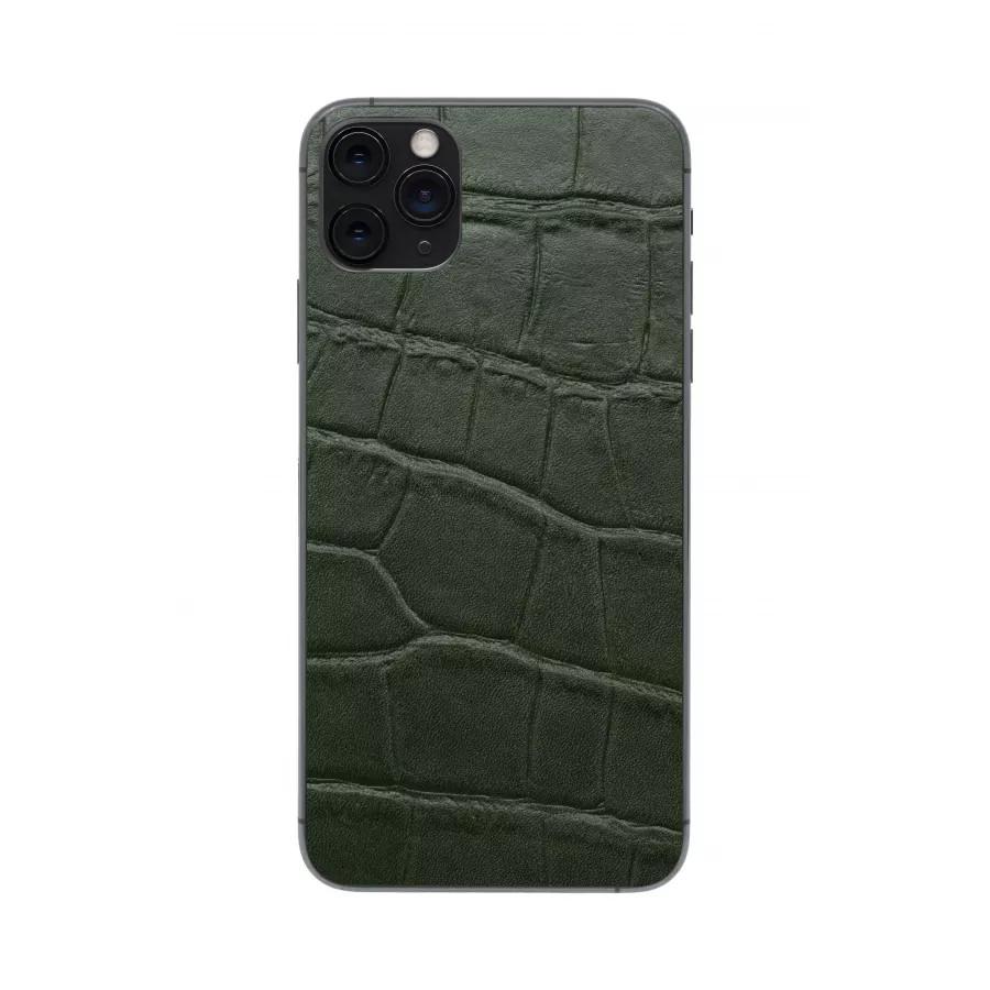 Защитная наклейка из натуральной кожи для iPhone 11 Pro Max, Вид Зеленый 1. Вид 4