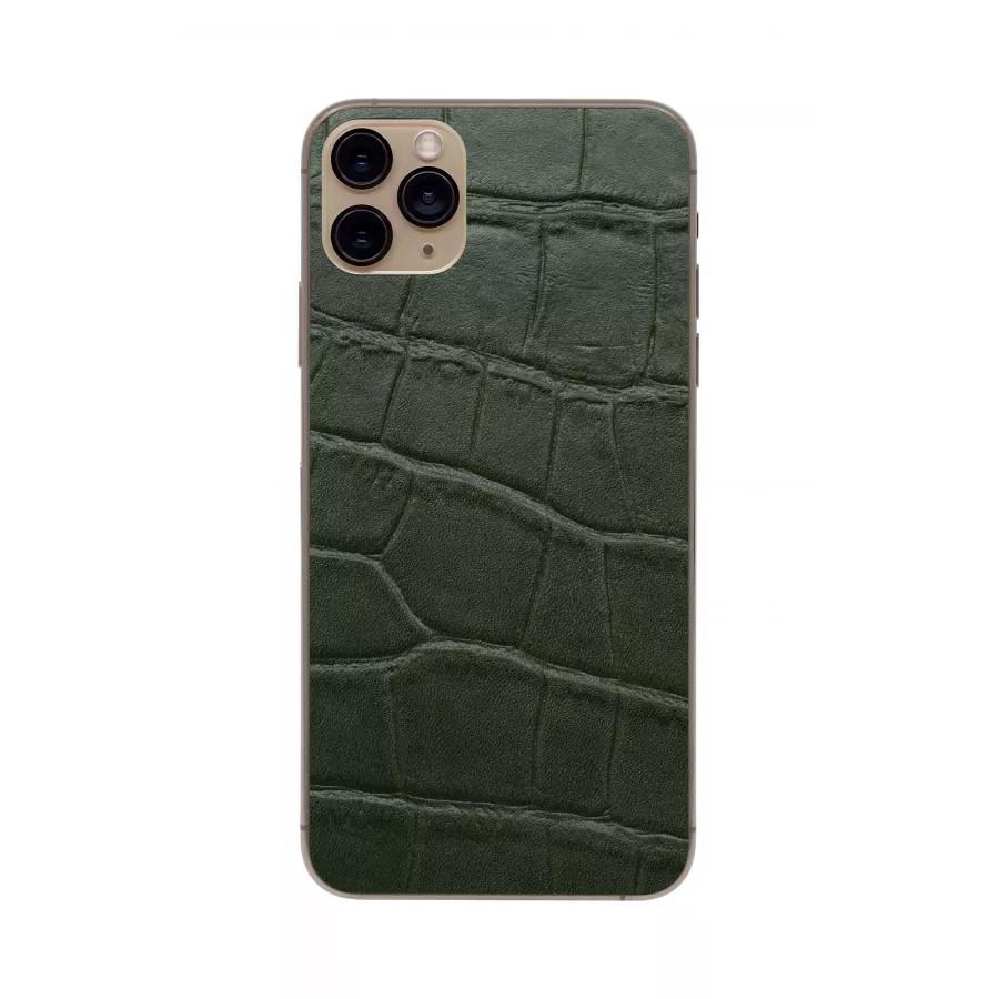 Защитная наклейка из натуральной кожи для iPhone 11 Pro Max, Вид Зеленый 1. Вид 3