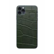 Защитная наклейка из натуральной кожи для iPhone 11 Pro Max, Вид Зеленый 1
