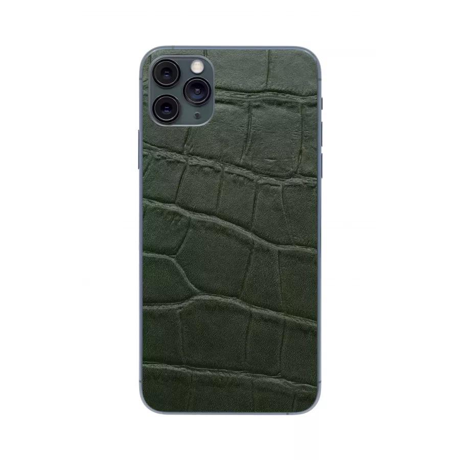 Защитная наклейка из натуральной кожи для iPhone 11 Pro Max, Вид Зеленый 1. Вид 1