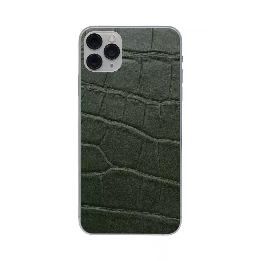 Защитная наклейка из натуральной кожи для iPhone 11 Pro Max, Вид Зеленый 1. Вид 2