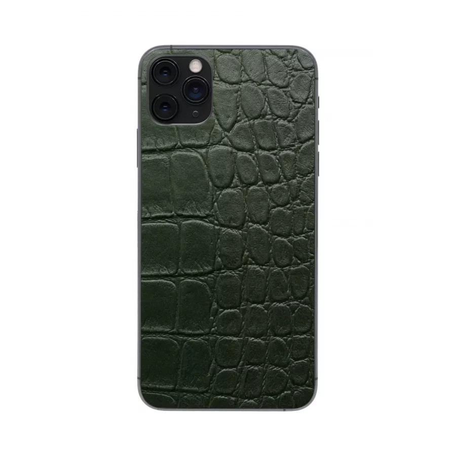 Защитная наклейка из натуральной кожи для iPhone 11 Pro Max, Вид Зеленый 2. Вид 4