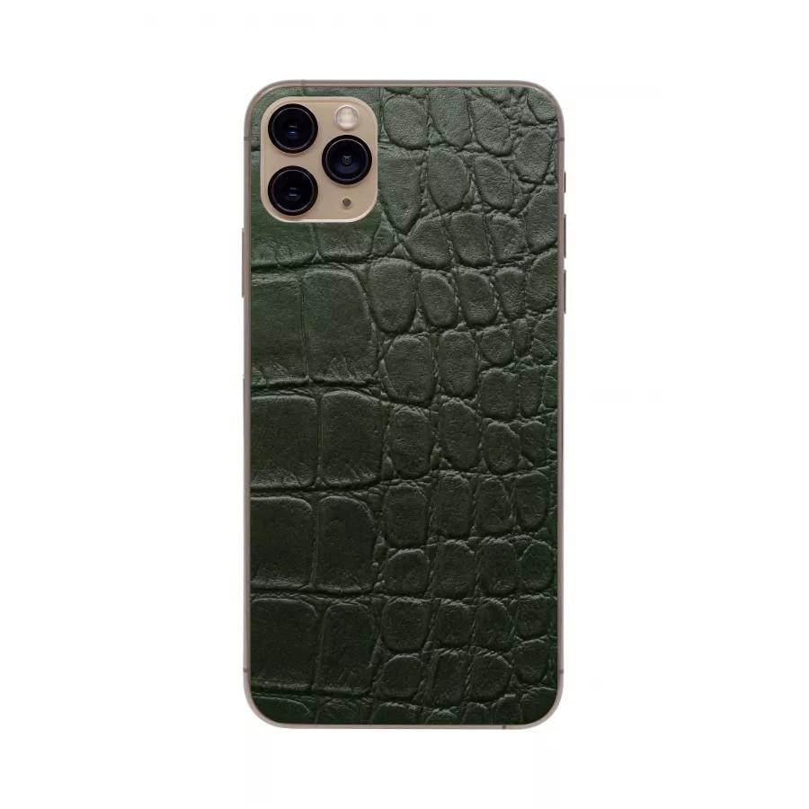 Защитная наклейка из натуральной кожи для iPhone 11 Pro Max, Вид Зеленый 2. Вид 2