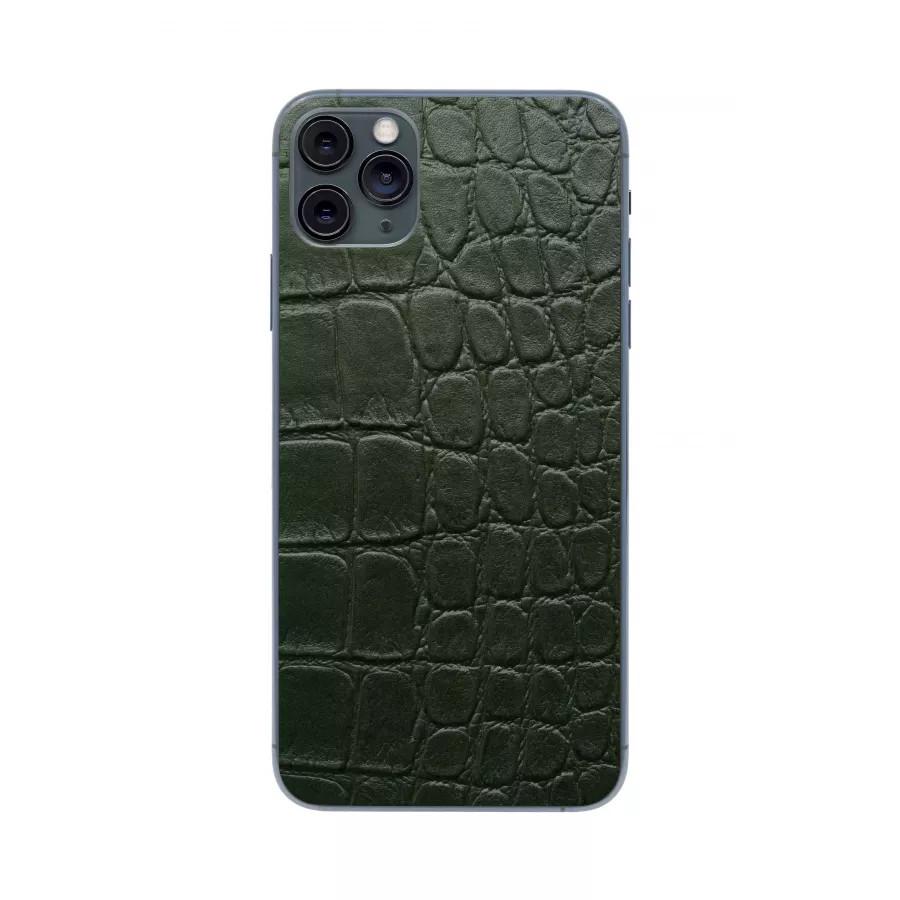 Защитная наклейка из натуральной кожи для iPhone 11 Pro Max, Вид Зеленый 2. Вид 3