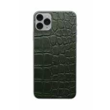 Защитная наклейка из натуральной кожи для iPhone 11 Pro Max, Вид Зеленый 2