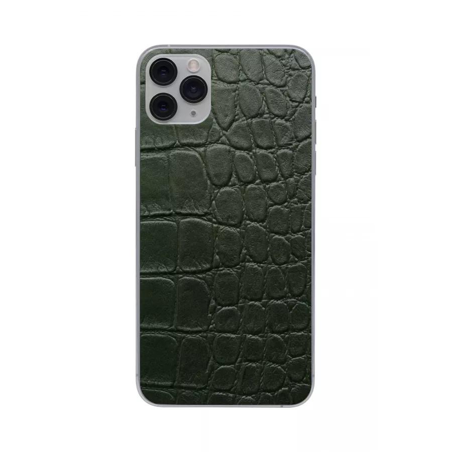 Защитная наклейка из натуральной кожи для iPhone 11 Pro Max, Вид Зеленый 2. Вид 1