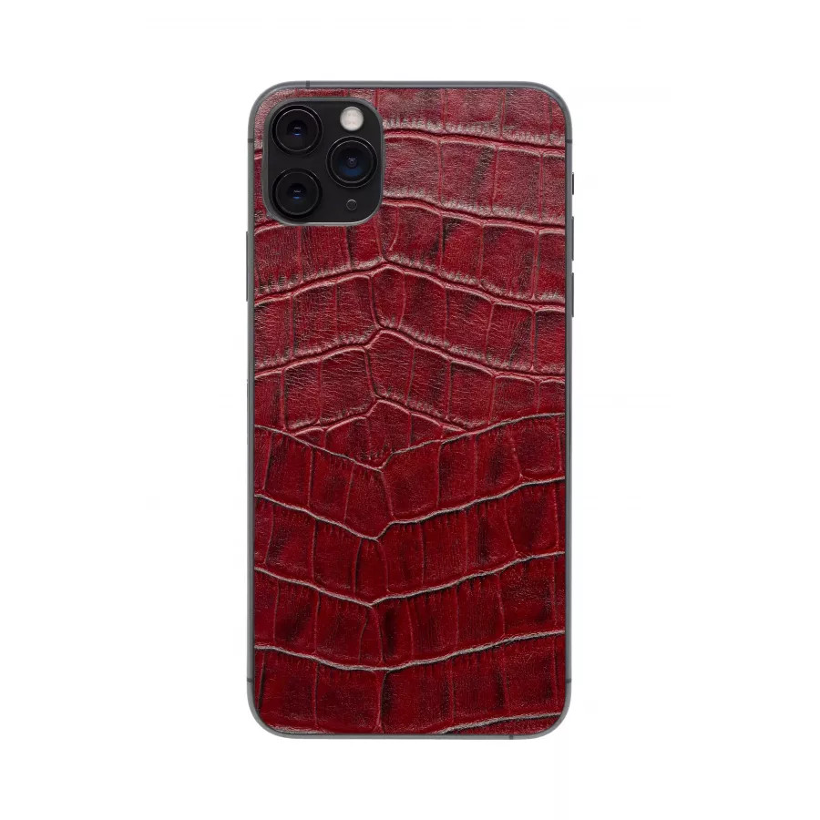Защитная наклейка из натуральной кожи для iPhone 11 Pro Max, Вид Красный 1. Вид 4