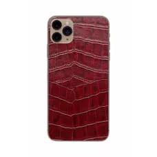 Защитная наклейка из натуральной кожи для iPhone 11 Pro Max, Вид Красный 1