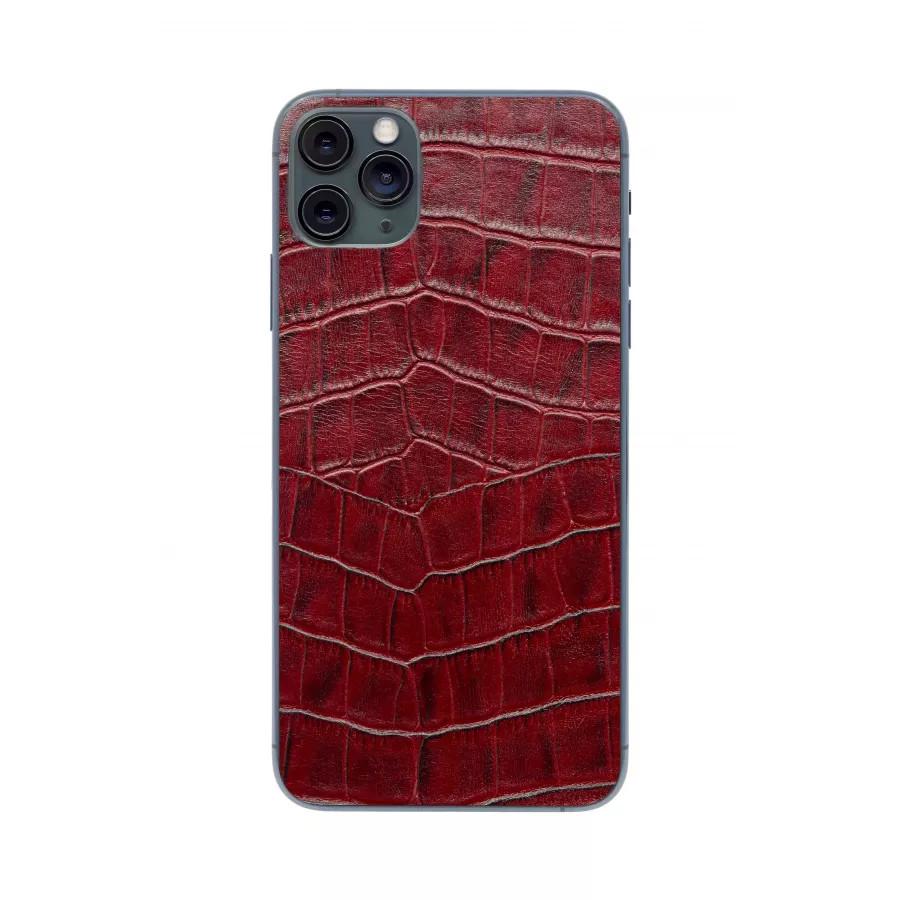 Защитная наклейка из натуральной кожи для iPhone 11 Pro Max, Вид Красный 1. Вид 3
