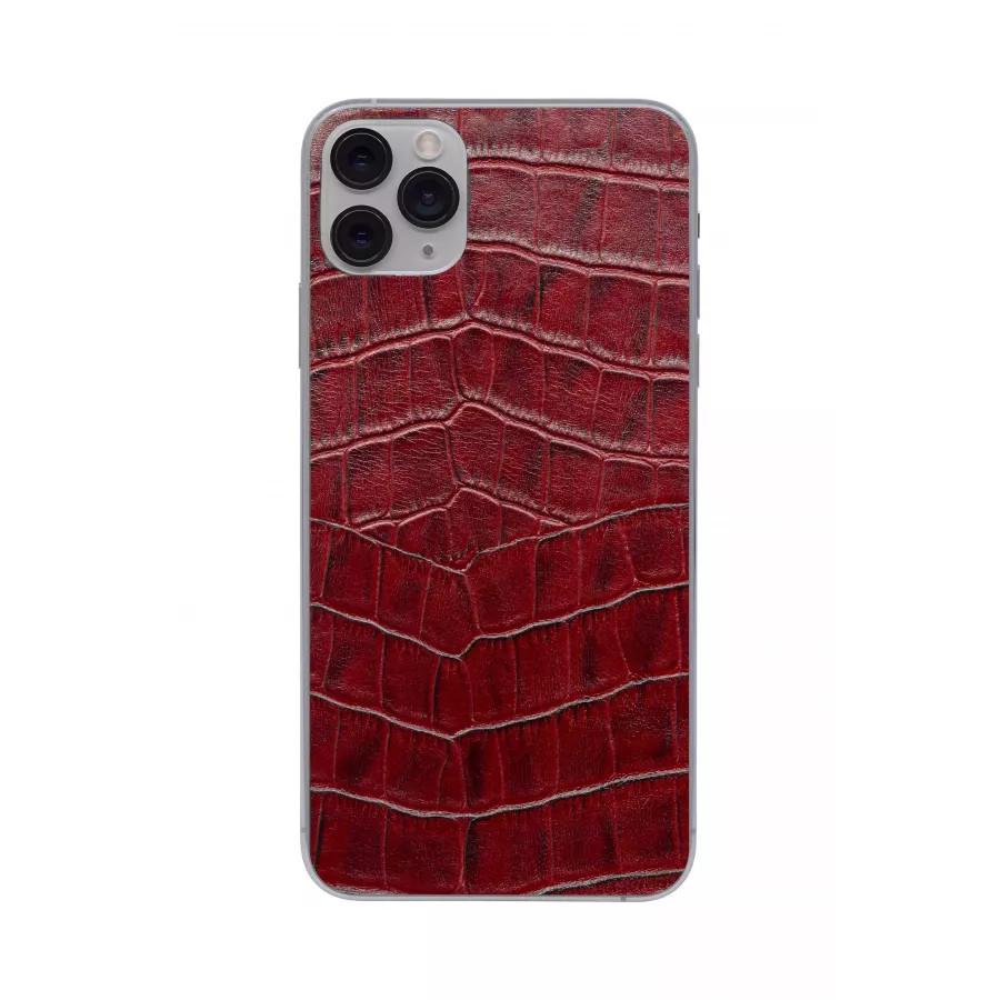 Защитная наклейка из натуральной кожи для iPhone 11 Pro Max, Вид Красный 1. Вид 2