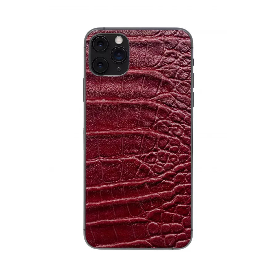Защитная наклейка из натуральной кожи для iPhone 11 Pro Max, Вид Красный 2. Вид 4