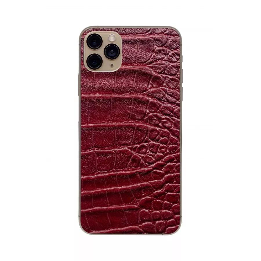 Защитная наклейка из натуральной кожи для iPhone 11 Pro Max, Вид Красный 2. Вид 3