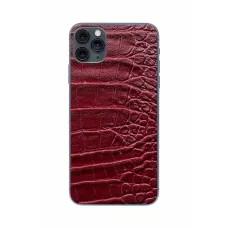 Защитная наклейка из натуральной кожи для iPhone 11 Pro Max, Вид Красный 2