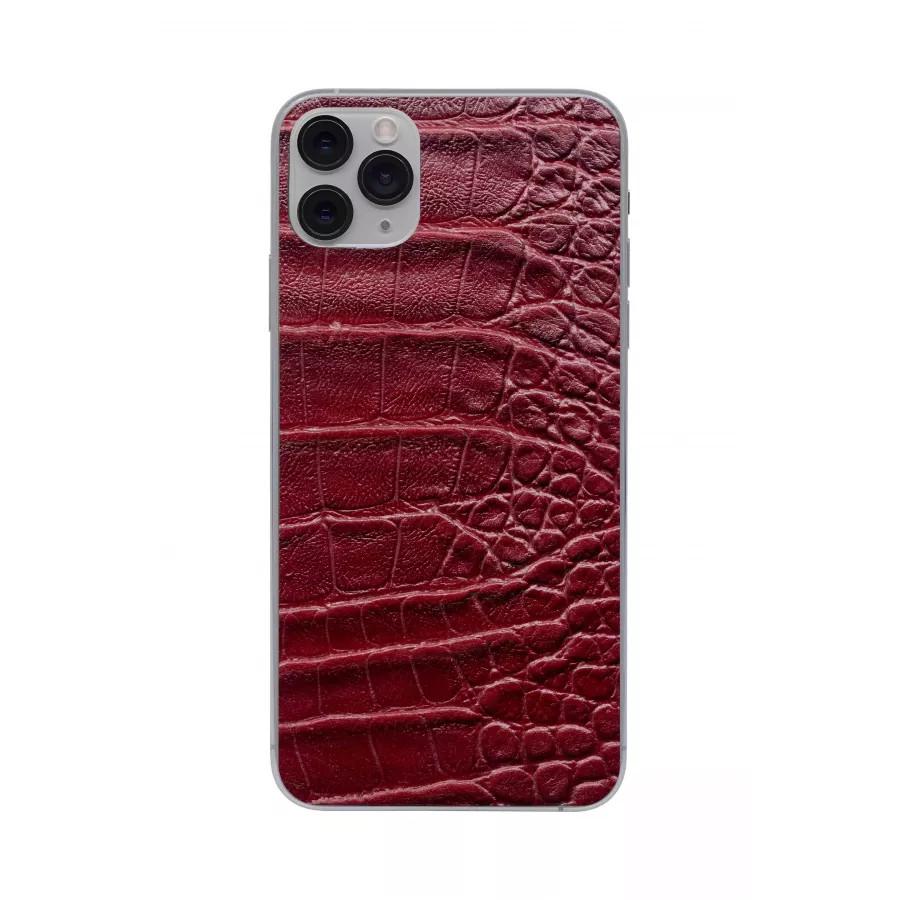 Защитная наклейка из натуральной кожи для iPhone 11 Pro Max, Вид Красный 2. Вид 2