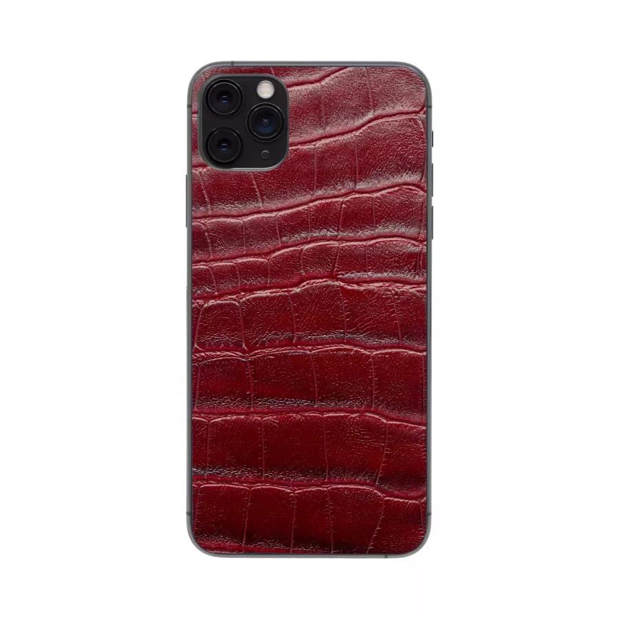 Защитная наклейка из натуральной кожи для iPhone 11 Pro Max, Вид Красный 3. Вид 4