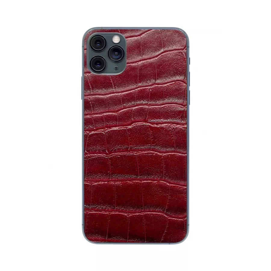 Защитная наклейка из натуральной кожи для iPhone 11 Pro Max, Вид Красный 3. Вид 3
