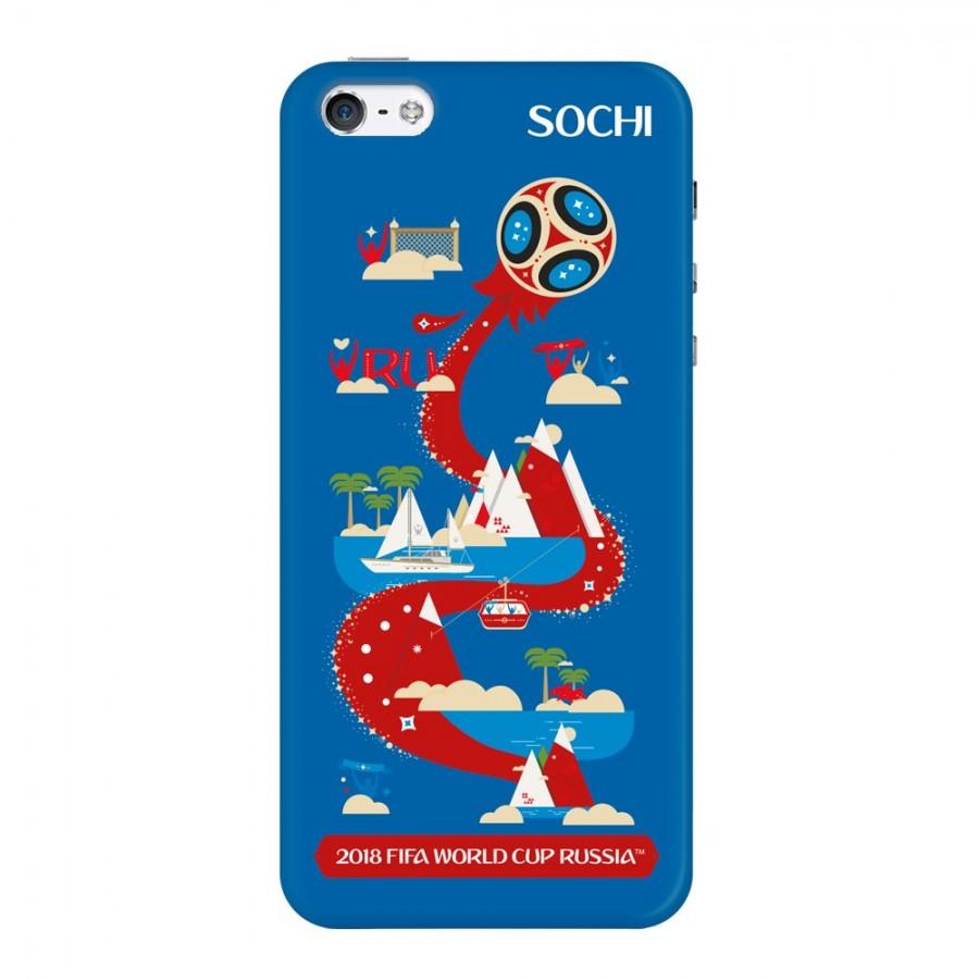 Купить Чехол FIFA_Sochi TPU Резиновый для Apple iPhone 5/5S/SE в Сочи