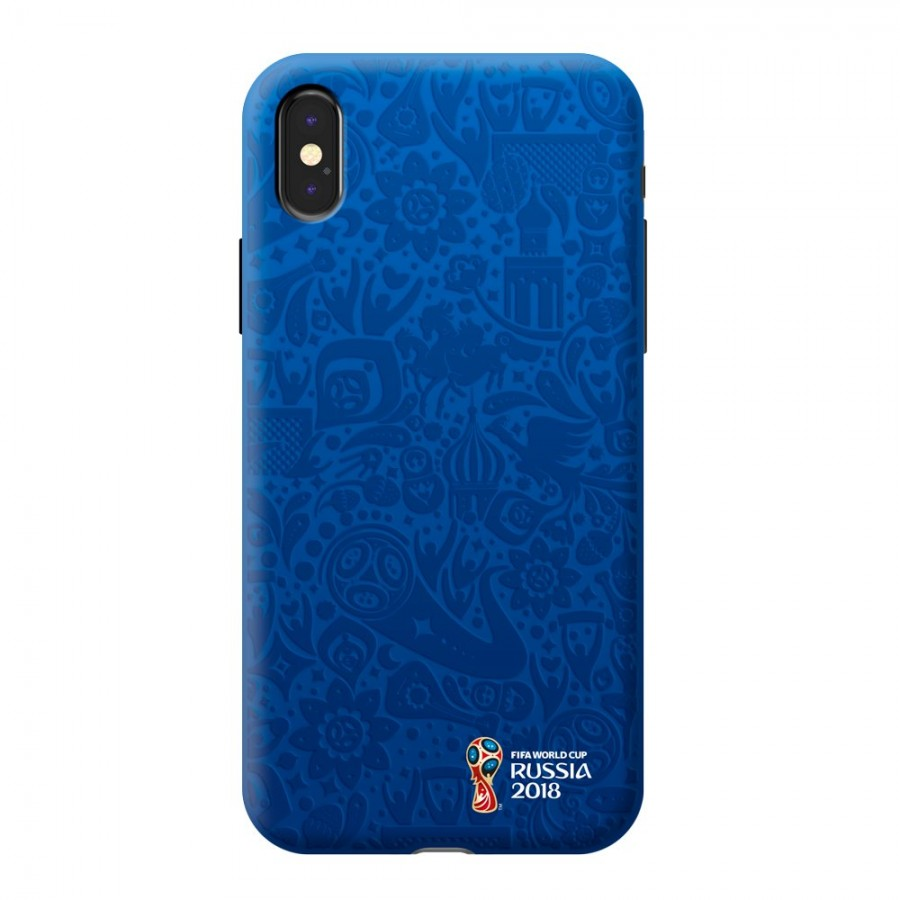 Чехол FIFA_Official Logotype_blue TPU Резиновый для Apple iPhone X