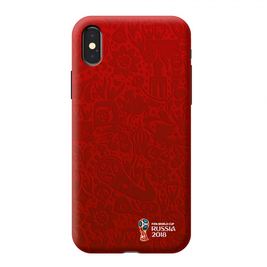 Чехол FIFA_Official Logotype_red TPU Резиновый для Apple iPhone X