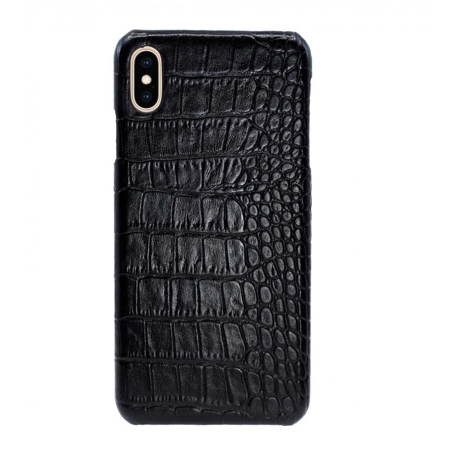 Купить Чехол Heddy Croco Leather Case для iPhone XS Max - Черный (Black) Тиснение 1 в Сочи