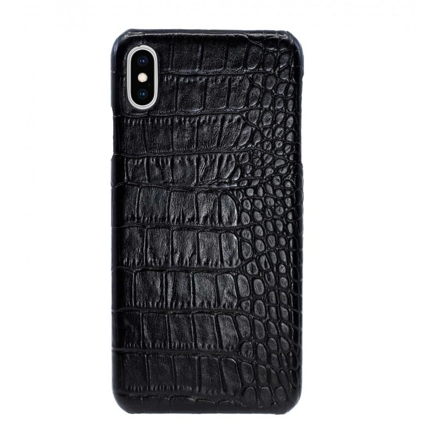 Чехол Heddy Croco Leather Case для iPhone XS Max - Черный (Black) Тиснение 1