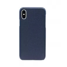 Чехол Natural Cow Tiffany Leather Case для iPhone X/XS - Темно-синий (Dark Blue)