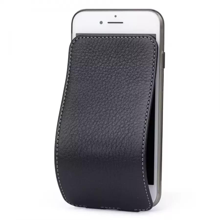 Чехол Marcel-Robert, натуральная кожа для iPhone 7/8/SE - Черный. Вид 1