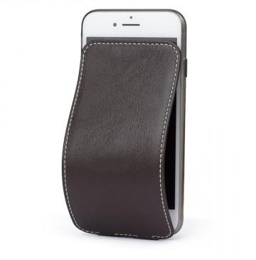 Чехол Marcel-Robert, натуральная кожа для iPhone 7/8/SE - Темно-коричневый. Вид 1
