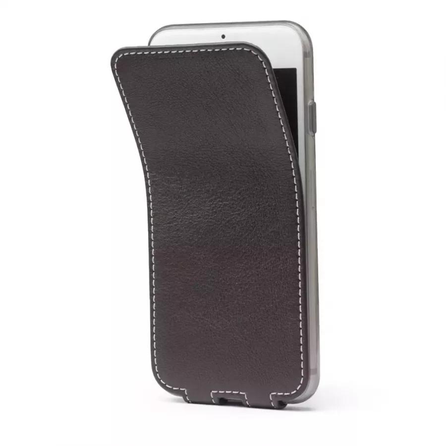 Чехол Marcel-Robert, натуральная кожа для iPhone 7/8/SE - Темно-коричневый. Вид 2