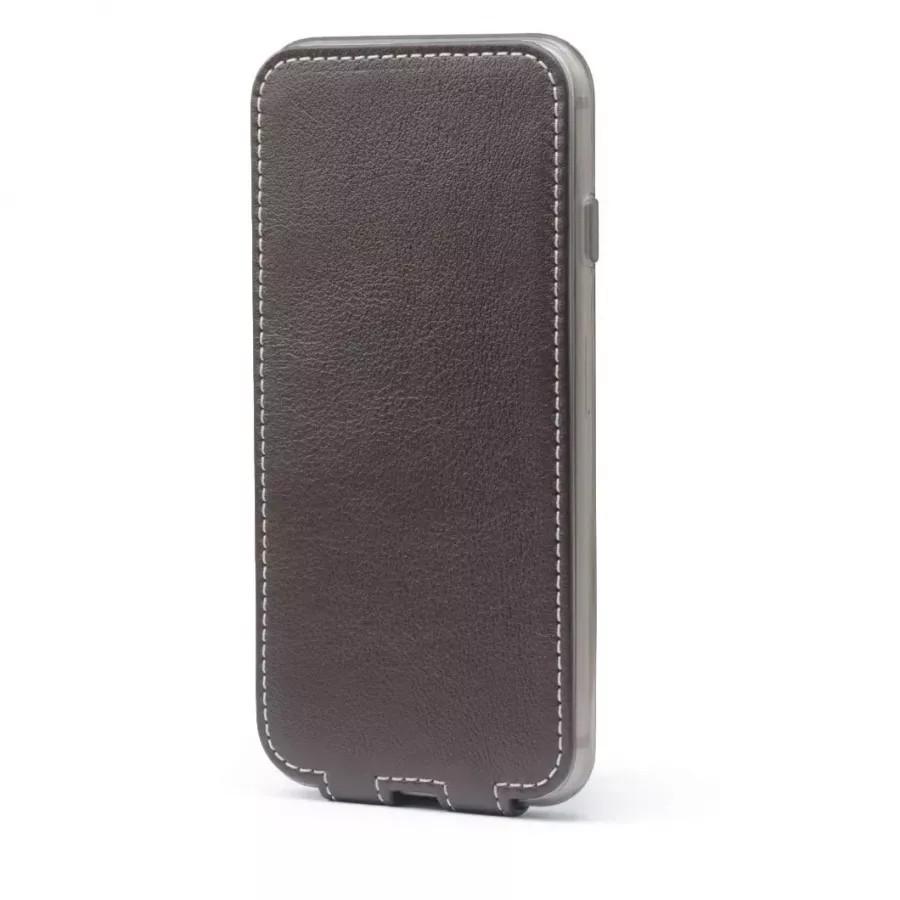 Чехол Marcel-Robert, натуральная кожа для iPhone 7/8/SE - Темно-коричневый. Вид 4
