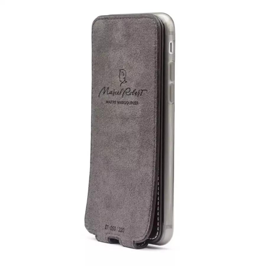 Чехол Marcel-Robert, натуральная кожа для iPhone 7/8/SE - Темно-коричневый. Вид 5