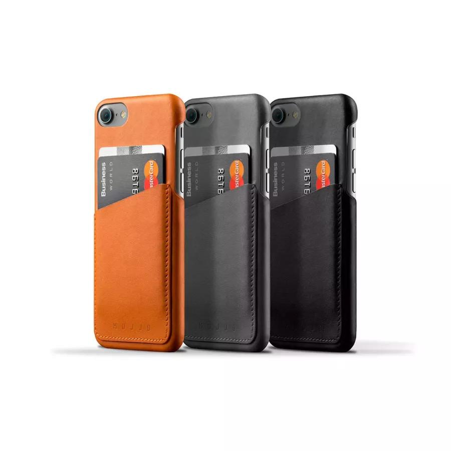 Чехол Mujjo Leather Wallet Case для iPhone 7/8/SE - Серый. Вид 3