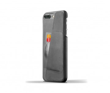 Чехол Mujjo Leather Wallet Case для iPhone 7/8 Plus - Серый. Вид 1
