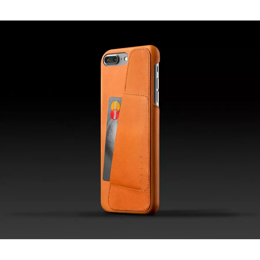 Чехол Mujjo Leather Wallet Case для iPhone 7/8 Plus - Светло-коричневый. Вид 2